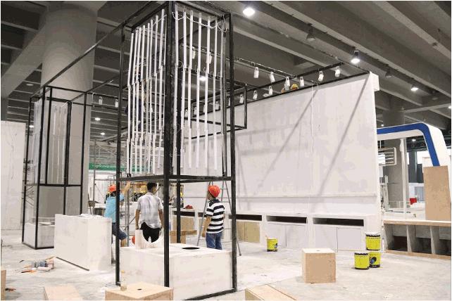 2019年国际大型展示展览搭建现场