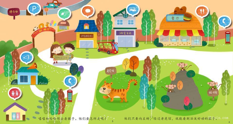 动物园地图印刷