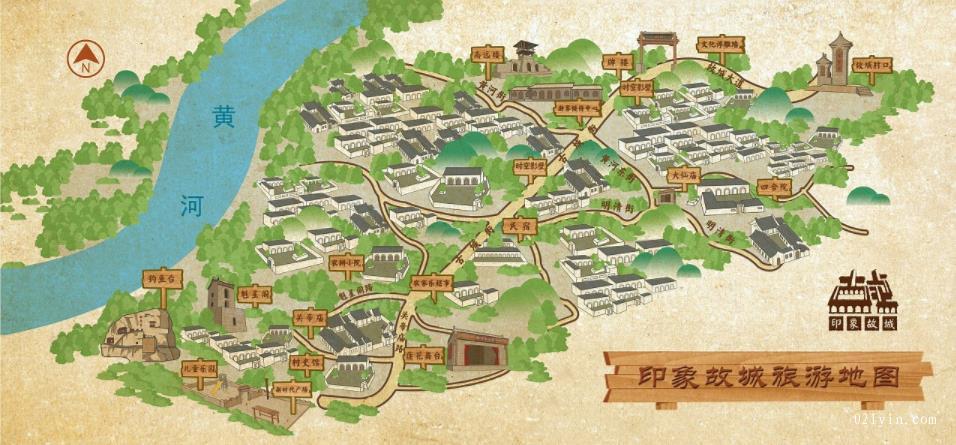 城市旅游地图
