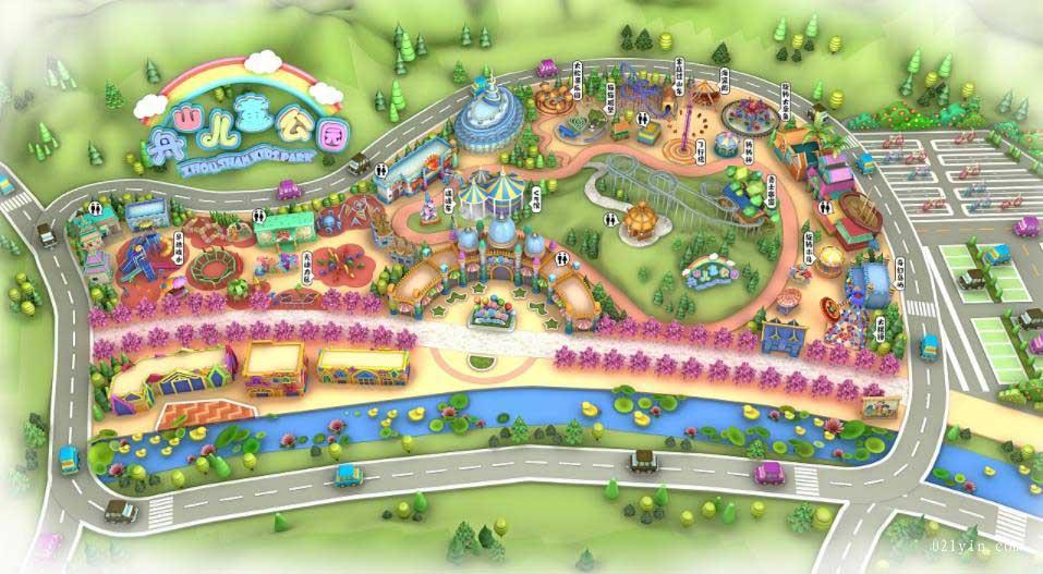游乐园地图印刷